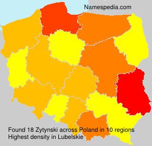 Familiennamen Zytynski - Poland