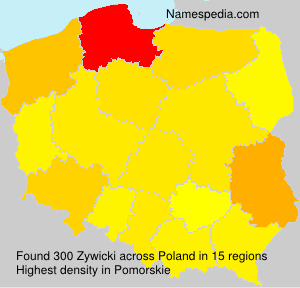 Surname Zywicki in Poland