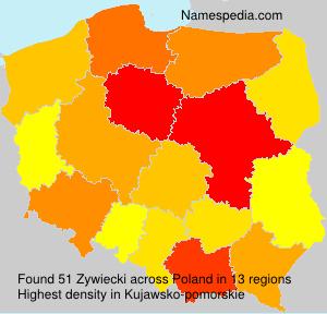 Surname Zywiecki in Poland