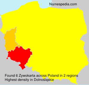 Surname Zywokarta in Poland
