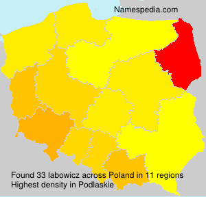 Surname labowicz in Poland
