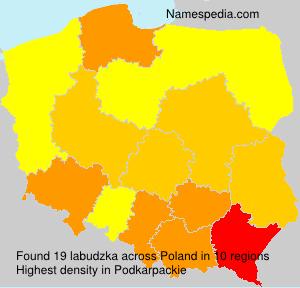 Surname labudzka in Poland