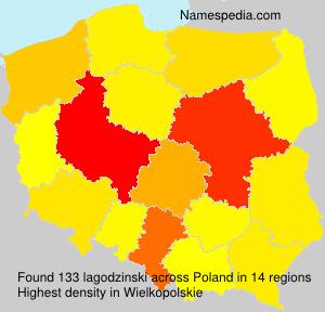 Surname lagodzinski in Poland