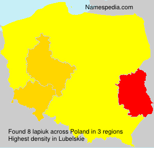 Surname lapiuk in Poland
