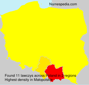 Surname lawczys in Poland