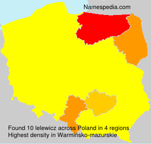 Surname lelewicz in Poland