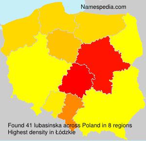 Surname lubasinska in Poland