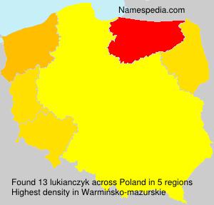 Surname lukianczyk in Poland