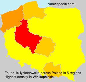 Surname lyskanowska in Poland