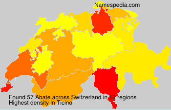 Surname Abate in Switzerland