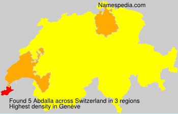 Surname Abdalla in Switzerland