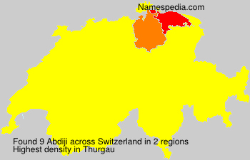 Surname Abdiji in Switzerland