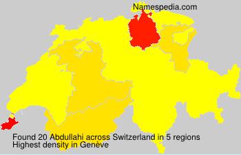 Familiennamen Abdullahi - Switzerland