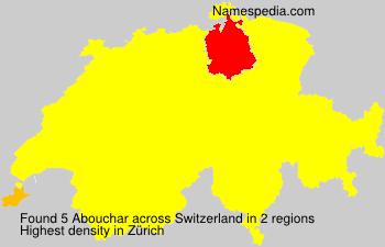 Surname Abouchar in Switzerland