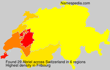 Surname Abriel in Switzerland