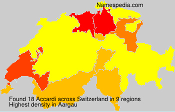 Surname Accardi in Switzerland