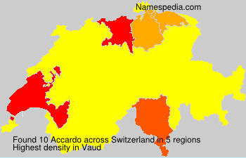 Surname Accardo in Switzerland