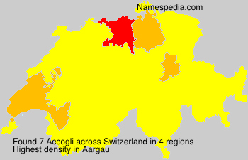 Surname Accogli in Switzerland