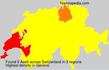 Surname Aceti in Switzerland