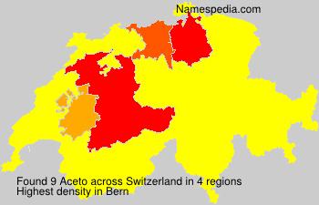 Surname Aceto in Switzerland