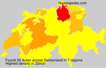 Surname Acker in Switzerland