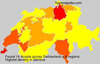 Surname Acosta in Switzerland