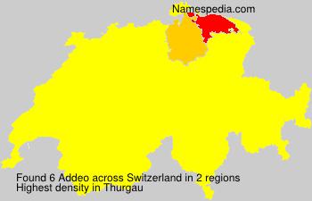 Surname Addeo in Switzerland