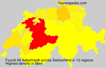 Surname Aeberhardt in Switzerland