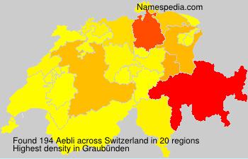 Surname Aebli in Switzerland