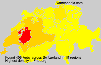 Surname Aeby in Switzerland