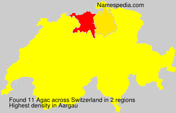 Surname Agac in Switzerland