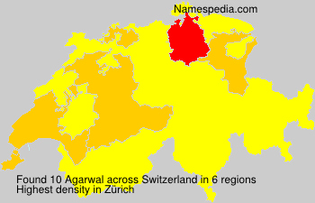Surname Agarwal in Switzerland