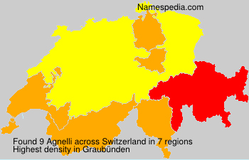 Surname Agnelli in Switzerland