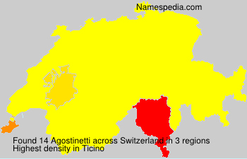 Surname Agostinetti in Switzerland
