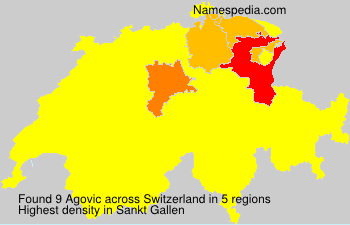 Surname Agovic in Switzerland