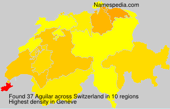 Surname Aguilar in Switzerland
