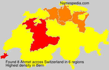 Surname Ahmet in Switzerland