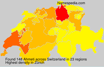 Surname Ahmeti in Switzerland