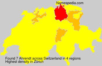 Surname Ahrendt in Switzerland
