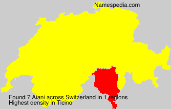Surname Aiani in Switzerland