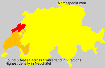 Surname Aiassa in Switzerland