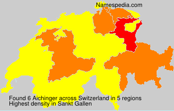 Surname Aichinger in Switzerland