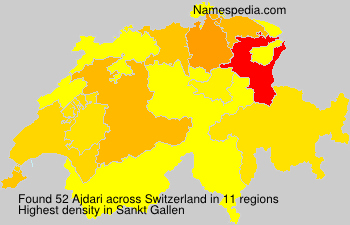 Surname Ajdari in Switzerland