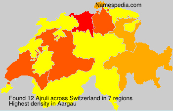 Surname Ajruli in Switzerland
