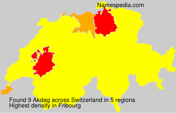 Surname Akdag in Switzerland