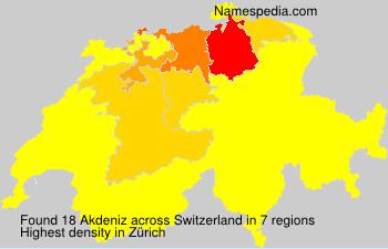 Surname Akdeniz in Switzerland
