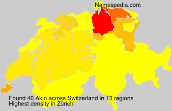 Surname Akin in Switzerland