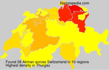 Surname Akman in Switzerland