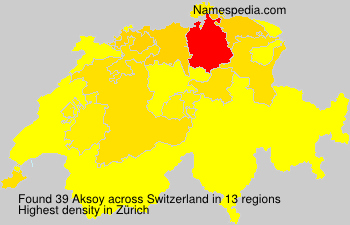Surname Aksoy in Switzerland