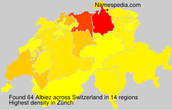 Surname Albiez in Switzerland
